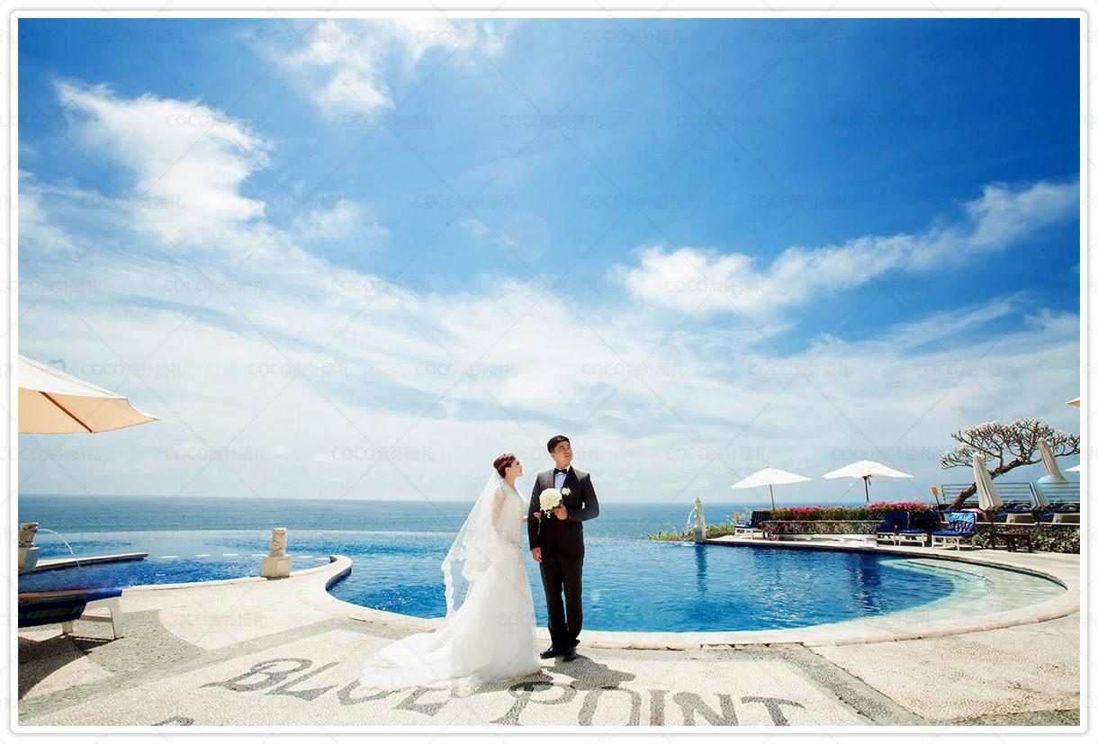 巴厘岛蓝点教堂婚礼l&d